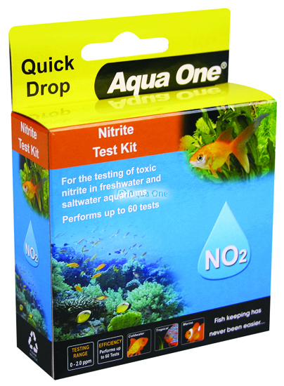 Aqua one nitrite no2 quick drop test kit aqua one parts for Nitrite in fish tank