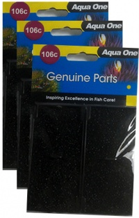 Aqua One (106c) Carbon Cartridge *** TRIPLE PACK ***