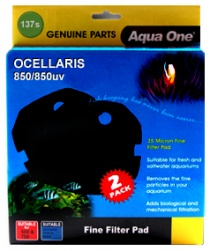 NEW ** Aqua One (137s) Blue Sponge Pad for Ocellaris 850 - (2 pack)