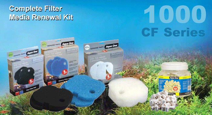 Complete Filter Media Renewal Kit CF1000 and CF1200