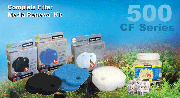 Complete Filter Media Renewal Kit CF500 and CF700