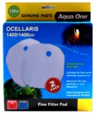 NEW ** Aqua One (139w) Wool Pad for Ocellaris 1400 / 1400UV - (2 pack)