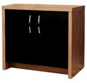 Inspire 60 Cabinet - Walnut / Black Gloss Door from Aqua One