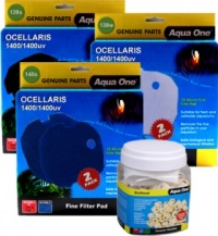 Aqua One Complete Filter Media Renewal Kit for Ocellaris 1400 / 1400UV